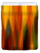 Forest Sunlight Vertical Duvet Cover