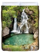 Forest Waterfall Duvet Cover
