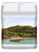 Forested Coast Line Duvet Cover
