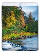 Foretelling Of A Storm Beaver's Bend Broken Bow Fall Foliage Duvet Cover