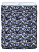Forget Me Not Flowers Duvet Cover