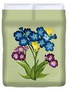Forget Me Nots And Butterflies Duvet Cover