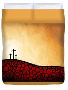 Forgiven - Christian Art By Sharon Cummings Duvet Cover