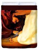 Forgiven Duvet Cover by Jennifer Page