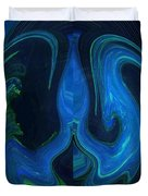 Forming Of Mother Earth Abstract Duvet Cover