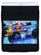 Formula 1 Race Duvet Cover by Hanne Lore Koehler