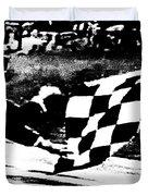 Formula 1 Vintage Checkered Flag Duvet Cover