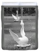 Forsyth Park Fountain - Black And White 3 2x3 Duvet Cover