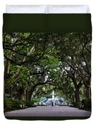 Forsyth Park Fountain Savannah Georgia  Duvet Cover