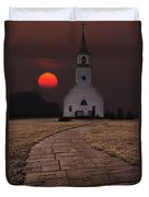 Fort Belmont Sunset Duvet Cover