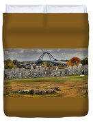 Fort Crown Point Panorama Duvet Cover