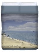 Fort Gratiot Light House Beach Duvet Cover