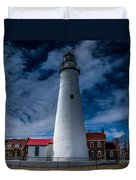 Fort Gratiot Lighthouse From The Water Side Duvet Cover