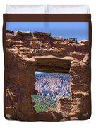 Fort Jemez Adobe Window Duvet Cover