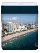 Fort Lauderdale Beach Duvet Cover