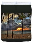 Fort Lauderdale Beach Florida - Sunrise Duvet Cover