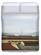 Fort Mason And Golden Gate Bridge Duvet Cover