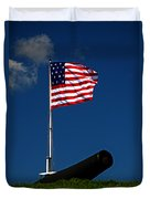 Fort Mchenry Flag And Cannon Duvet Cover