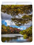 Fort Mountain State Park Lake Trail Duvet Cover