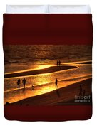 Fort Myers Beach Sunset  Duvet Cover