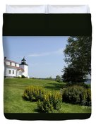 Fort Point Light Maine Duvet Cover