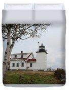 Fort Point Lighthouse 9239 Duvet Cover