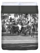 Fort Worth Herd Cattle Drive Duvet Cover