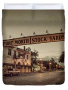 Fort Worth Stockyards Duvet Cover
