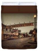 Fort Worth Stockyards Duvet Cover