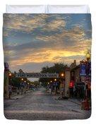 Fort Worth Stockyards Sunrise Duvet Cover