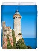 Forte Stella Lighthouse - Portoferraio - Elba Island Duvet Cover