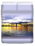 Forth Rail Bridge At Sunset Duvet Cover
