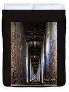 Fortified Covered Walkway Duvet Cover