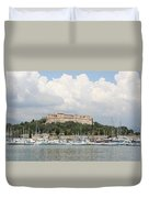 Fortress And Harbor - Cote D'azur Duvet Cover