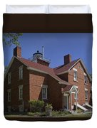 Forty Mile Point Lighthouse In Michigan Number 417 Duvet Cover