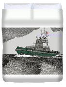 Foss Tractor Tugboat Duvet Cover