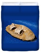 Fossil Fish Vertebrae In Rock Duvet Cover