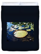 Foul Ball And The Lily Pads Duvet Cover