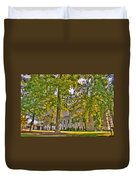 Founders Hall Portico Entrance Duvet Cover