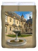 Fountain At Chateau De Chantilly Duvet Cover