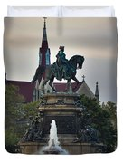 Fountain At Eakins Oval Duvet Cover