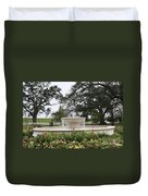 Fountain At Nottoway Duvet Cover