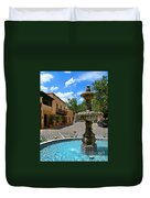 Fountain At Tlaquepaque Arts And Crafts Village Sedona Arizona Duvet Cover