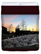 Fountain At Trinity River Campus 1566m Duvet Cover