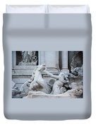 Fountain Di Trevi Duvet Cover