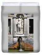 Fountain In A Palace Garden Duvet Cover