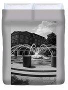 Fountain In Charleston Duvet Cover