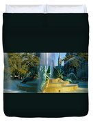 Fountain In Front Of A Building, Logan Duvet Cover
