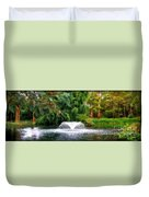 Fountain In The Park Duvet Cover
