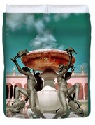 Fountain Of The Tortoises Ringling Museum Sarasota Duvet Cover